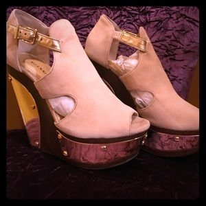GIANNI BINI WEDGES SHOES